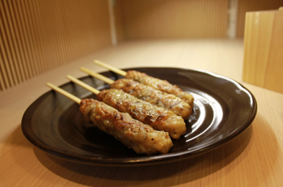 Tsukune (Chicken Meat Loaf) with Cow Tongue